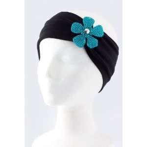 Fashion Hair Accessory ~ Blue Acrylic Rhinestone Flower