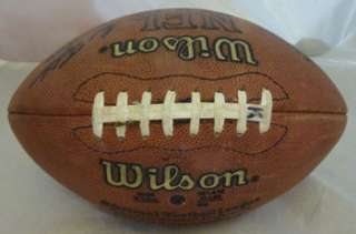 BILL BATES AUTOGRAPHED/SIGNED OFFICIAL NFL GAME USED FOOTBALL DALLAS