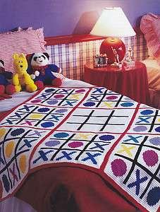 Crochet Pattern ~ TIC TAC TOE KIDS AFGHAN ~
