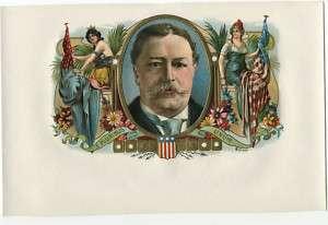 Ohio Republican President William Taft 1912 Cigar Label