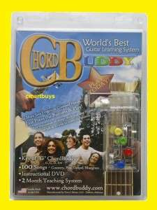 Chord Buddy Worlds Best Guitar Learning System w/ DVD + Lessons Book