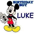 MICKEY MOUSE PERSONALIZED 2ND BDAY IRON ON TRANSFER