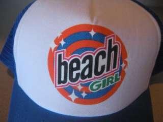 TRUCKER BEACH GIRL BASEBALL CAP HAT HEADERS CALIFORNIA