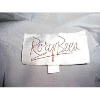 RORY BECA Gray Pintuck Sleeveless Silk Tank Top Blouse M