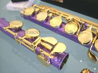 FLUTE  Sparkling Light PURPLE COLOR   GOLD Keys