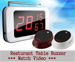 Wireless Calling Guest Pager Button Bell System for Waiter Server