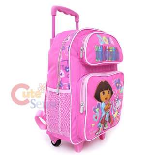 Dora & Boots School Rolling Backpack Roller Bag16Pink