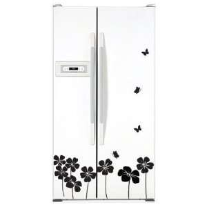 Black Flower Decor Mural Art Sticker Wall Paper WDC 516
