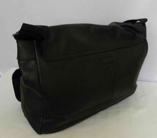 BENETTON CROSSING MAMMA LEATHER BLACK BAG PURSE HANDBAG