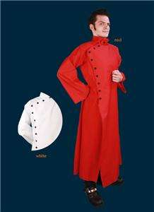 Mad Scientist Doctor Lab Coat Halloween Costume Red White Black
