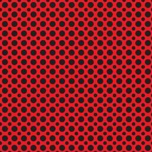 POLKA DOTS PATTERN #2 Red and Black Vinyl Decal Sheet 12x36 Sticker