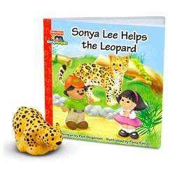 Fisher Price Little People Zoo Talkers Leopard & Book Set NEW