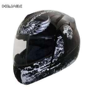 Advanced Hawk Black Cross Dual Visor Full Face Motorcycle