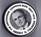 1972 pin HARRY TRUMAN 1884   1972 MEMORY pinback the Un