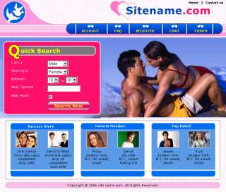Online Dating Website for sale, home base web business
