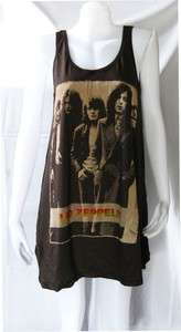 LED ZEPPELIN UK ROCK 1975 WOMEN T SHIRT DRESS TOP M L