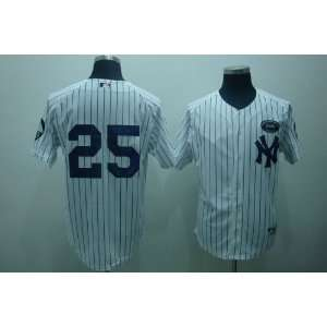 New York Yankees Home White Mark Texiera Jersey w/ memorial patches