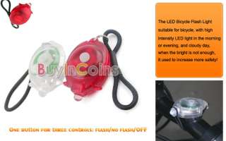 In 1 New Mini Bright LED Bicycle Bike Safety Light