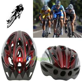 New Bicycle Adult Mens Bike Safety Helmet Cycling Red