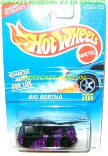 BIG BERTHA MILITARY TANK HOT WHEELS DIECAST 1995 RARE