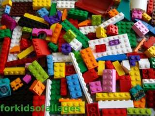 Lego Bulk 100 Piece Lot Incl GIRL COLORS Pink Purple+ Bricks Blocks