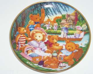 Teddy Bear Picnic Collector Plate Franklin Mint