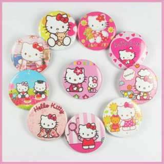 Hellokitty Badges Pins Buttons Boys Girls Birthday Party Favors Gifts