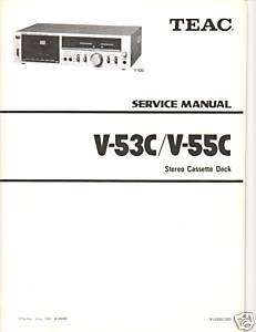 Original Teac Service Manual  V53C/V 55C Cassette Deck