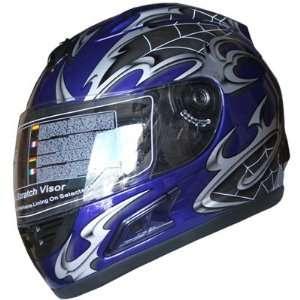 Face Sports Motorcycle Helmet DOT (508) 108 Blue