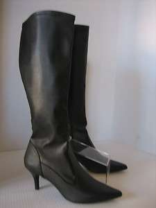 Womens Nine & Co Tall Black Boots w/ Heel /side Zipper JJAMARA sz7 New