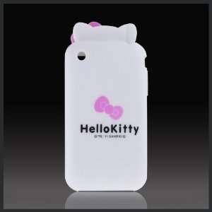 White Hello Kitty Ears w Bow Flexa flexible silicone soft skin case