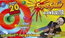 New Splat Ball Target Game Blow Blaster Balls