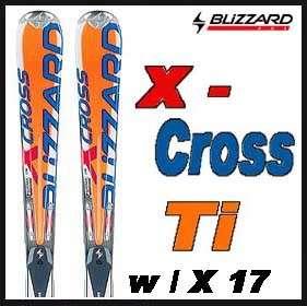 04 05 Blizzard X Cross Ti Skis 178cm w/X 17 NEW