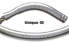 Tamper Proof Key Ring Security Permanent Solid Flexible