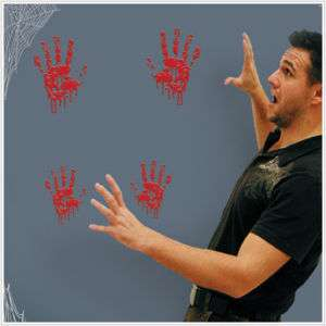 Bloody Handprints Wall Stickers Decoration Halloween