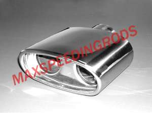 Performance BMW 318 318i one in & double out Chromed Exhaust Tail Pipe