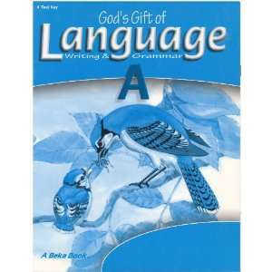 Gift of Language A Writing & Grammar Test Key H. Mayfield Books