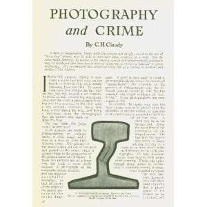 1914 Photography Crime Police Detectives Courts