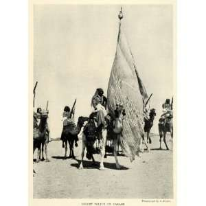 1925 Print Desert Police Parade Kerim Law Officer Iraq Camel Animal