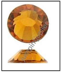 TOPAZ Gold Orange Swarovski Flatback 2028 Crystal Rhinestones 36