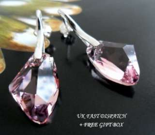 SWAROVSKI CRYSTAL GALACTIC, 925 STERLING SILVER EARRINGS