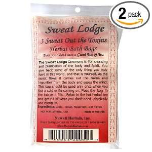 Nuwati Herbals Sweat Lodge Bath Bag, 3 Pack (Pack of 2