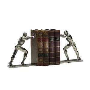 Cyan Lighting 02106 Iron Man Bookends, Silver Finish