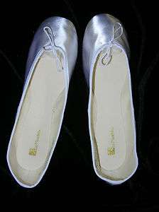 Dyeable White Satin Full Sole Wedding Slippers   Adult (flats)   ON