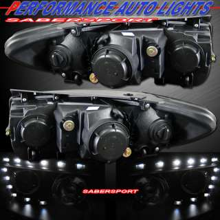 HEADLIGHTS w/R8 STYLE LED PARKING LIGHTS FOR 2007 2011 SANTA FE