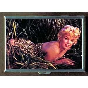 KL MARILYN MONROE LEOPARD GRASS ID CREDIT CARD WALLET CIGARETTE CASE
