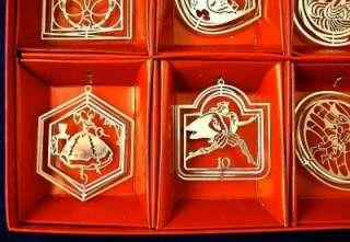 International 12 Days Christmas Ornament Boxed Set