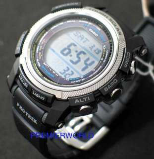 CASIO PROTREK TOUGH SOLAR SUNRISE SUNSET TIME MODE WATCH PRG 200 1DR
