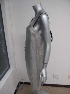 Marni Summer Edition 2010 Gray Sheer Black Strap Slip/Dress 42