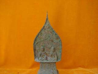 Asian Antique China Bronze Double Za zen Buddha statue